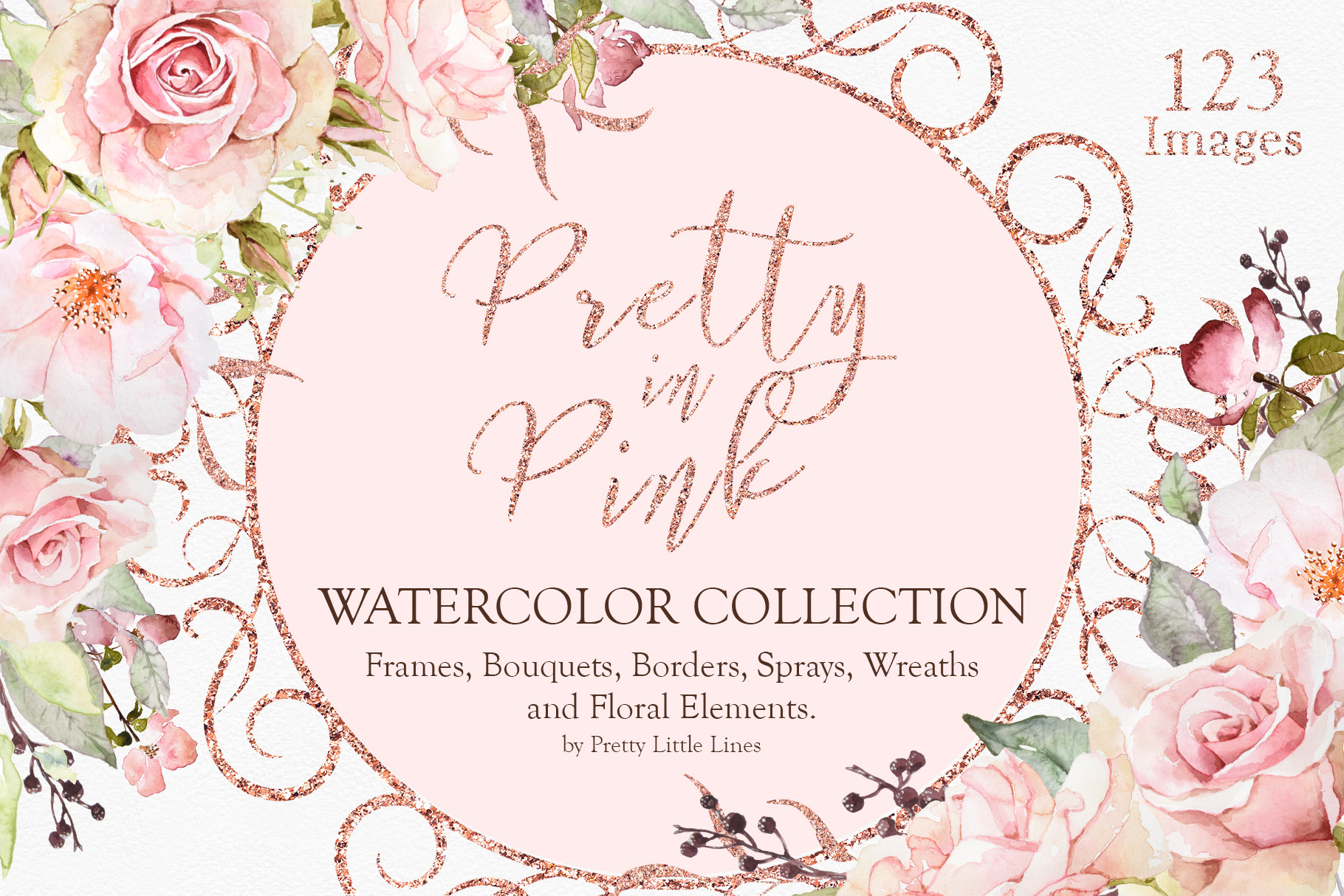 Pretty In Pink Watercolor Collection Pretty Little Lines