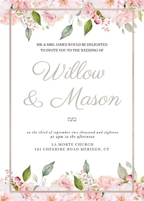 make your own wedding invitations | pretty little lines