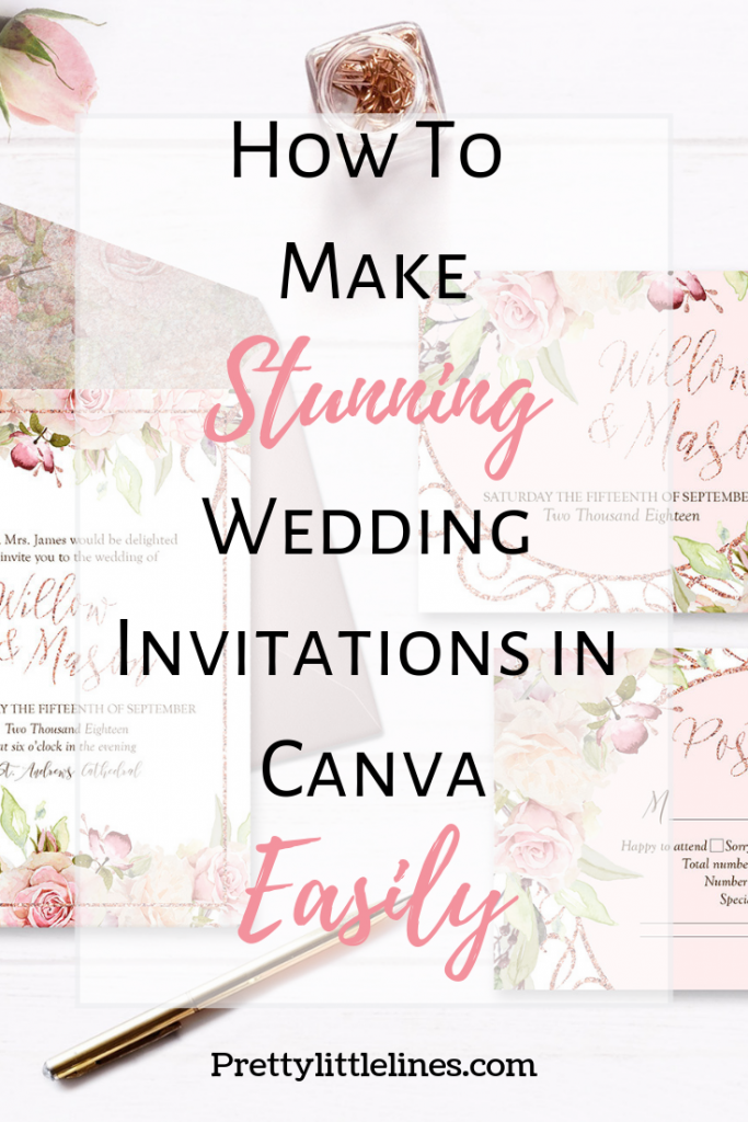 how to make wedding invitations | pretty little lines