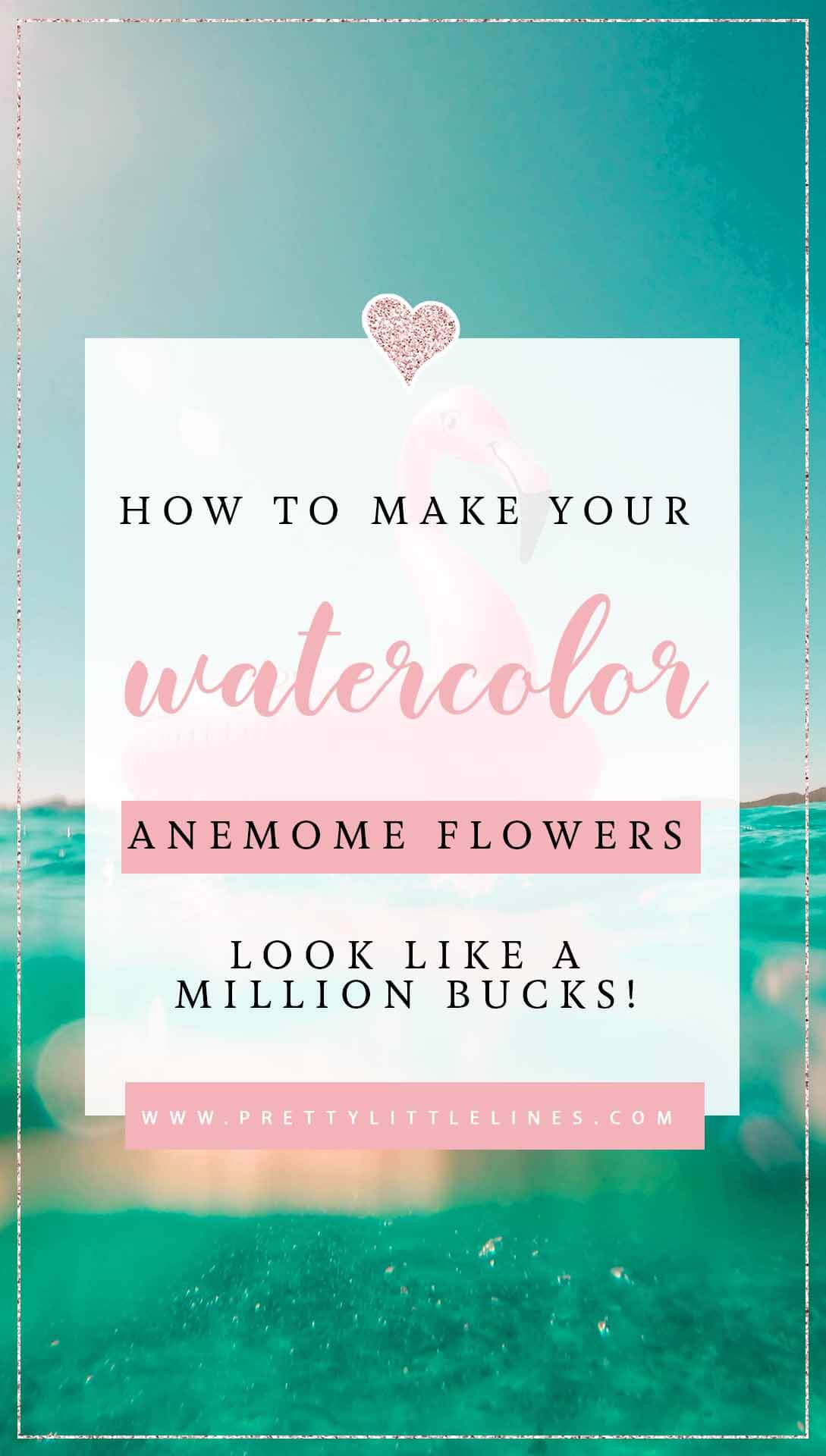 watercolor anemone flowers