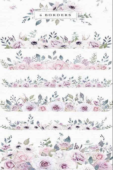 flower border art