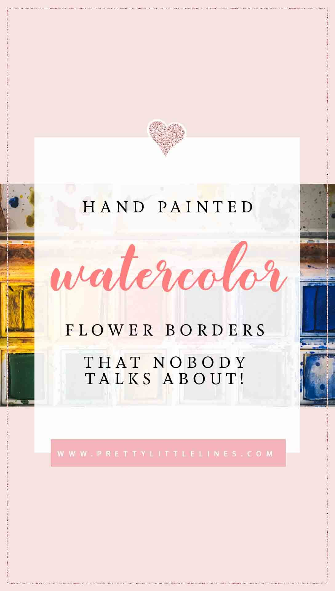watercolor flower borders