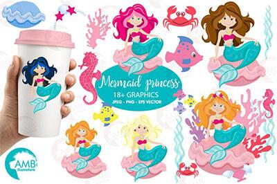 ariel mermaid clipart