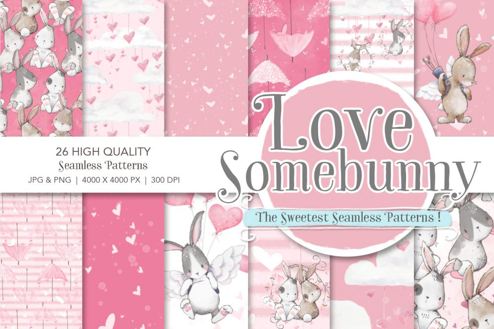 bunny seamless patterns