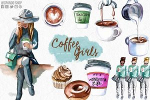 coffee planner clipart