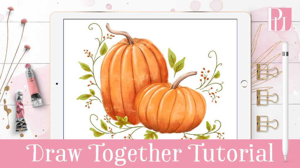 how to draw a pumpkin in procreate
